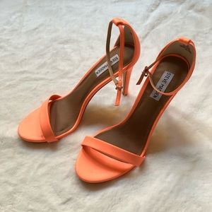 19e1da19d55 Steve Madden Shoes - Steve Madden Stecy Coral Neon Ankle Strap Heels